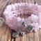 Pink Quartz Cuff Bracelet