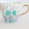 mint aqua flower earrings