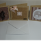 SET OF 3  HANDMADE NOTE CARD WITH ENVELOPE