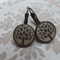 Brown Tree of Life Wood Photo Cut Earrings