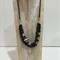 Black Volcanic Beaded Necklace