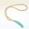 Pink and Mint Tassel Necklace