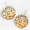 Photographic Earrings - Pattern Play - Gold Abstract