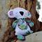 Fluffy White Koala Softie