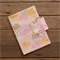 Nappy Wallet - Pink, Grey & Gold clouds