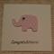 Congratulations Baby Elephant  card