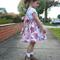 Suspender Skirt 'Pixel Flower' - Sizes: 5, 6 & 7