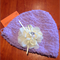 Powder puff hat with detachable flower
