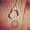 Love Heart 2, 2nd layer in the stack, hand stamped pendant personalised for you.