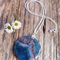 Blue Agate Gemstone Pendant & Sterling Silver Necklace