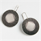 Photographic Earrings - Pattern Play - Silver Diamond