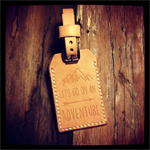 Let's Go On An Adventure - Leather Luggage Tag with Address Window