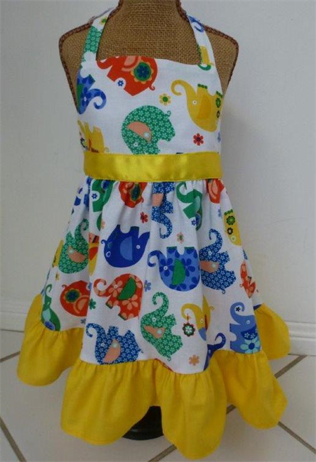 Size 1 - Elephant Romp Dress to fit 12 to 18 months