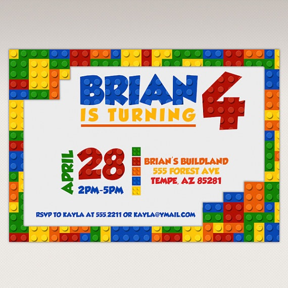 photograph regarding Printable Lego Birthday Invitations known as The Lego Birthday Get together Invites LilFaces Printables upon