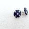 Fabric Covered Earrings | Blue & White Stars