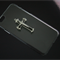 iPhone 6 clear case with Silver and Black metal cross - iPhone 6 case