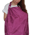 Nursing Cover for Stylish Mom on the Go - Wine Damask