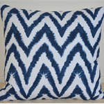 Navy Ikat Chevron Designer Cushion Cover