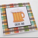 CHEERS DAD beer stein handmade card