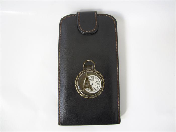Samsung Galaxy S3 Dark Brown Leather Flip Phone Case Paris