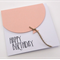 Oversized Salmon Pink Balloon Birthday Card