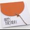 Oversized Burnt Orange Balloon Birthday Card
