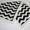 Black & White Crocheted Chevron  Blanket   Ready to Ship   Monochrome Blanket