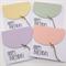Set of 4 Oversize Pastel Balloon Birthday Cards