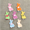 Bunny rabbit, choose your colour, felt hair clip, purple, pink, blue, mint