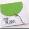 Oversized Lime Green Balloon Birthday Card