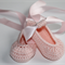 Pink Crocheted Ballet Shoe |  NB to 12M | Ready to Ship