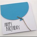 Oversized Blue Balloon Birthday Card