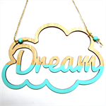 Cloud Dreamer Wall hanger- dip dye - Custom Made