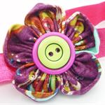 Bella-Button Flower Headbands (You Choose Color)