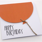 Oversized Burnt Orange Balloon Birthday Card
