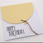 Oversized Lemon Yellow Balloon Birthday Card