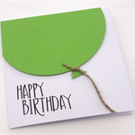Large Lime Green Balloon Birthday Card