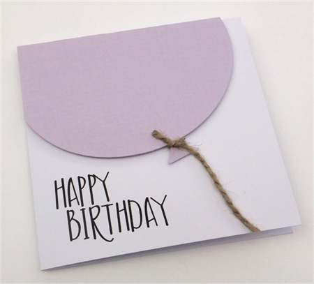 Oversized Lilac Balloon Birthday Card