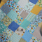 Owls and Monkeys - bright fun crib or toddler bed sized quilt