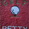 Personalised Hand Towel Golf Design name added for free