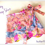 Ruby Wrap Skirt - Custom Order  Size 1 - 8 years