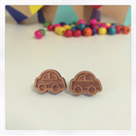 Laser Cut Wooden Car Earrings