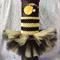 Bumble-Bee 2-Tier Tulle TuTu Dress & matching headband (newborn-6mnth)
