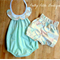 Minty gold collar playsuit and shorties