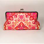 Kaleidoscope in magenta large clutch purse