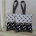Lavender Bags - Black & White Dots