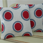 Lavender Bags - Red and Grey Circles