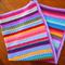 Crochet Rainbow Blanket,  Cot, Pram or Lap Blanket.
