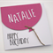Personalise your Oversized Balloon Birthday Card by adding a name!