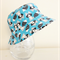 Boys summer hat in cheeky racoon fabrics